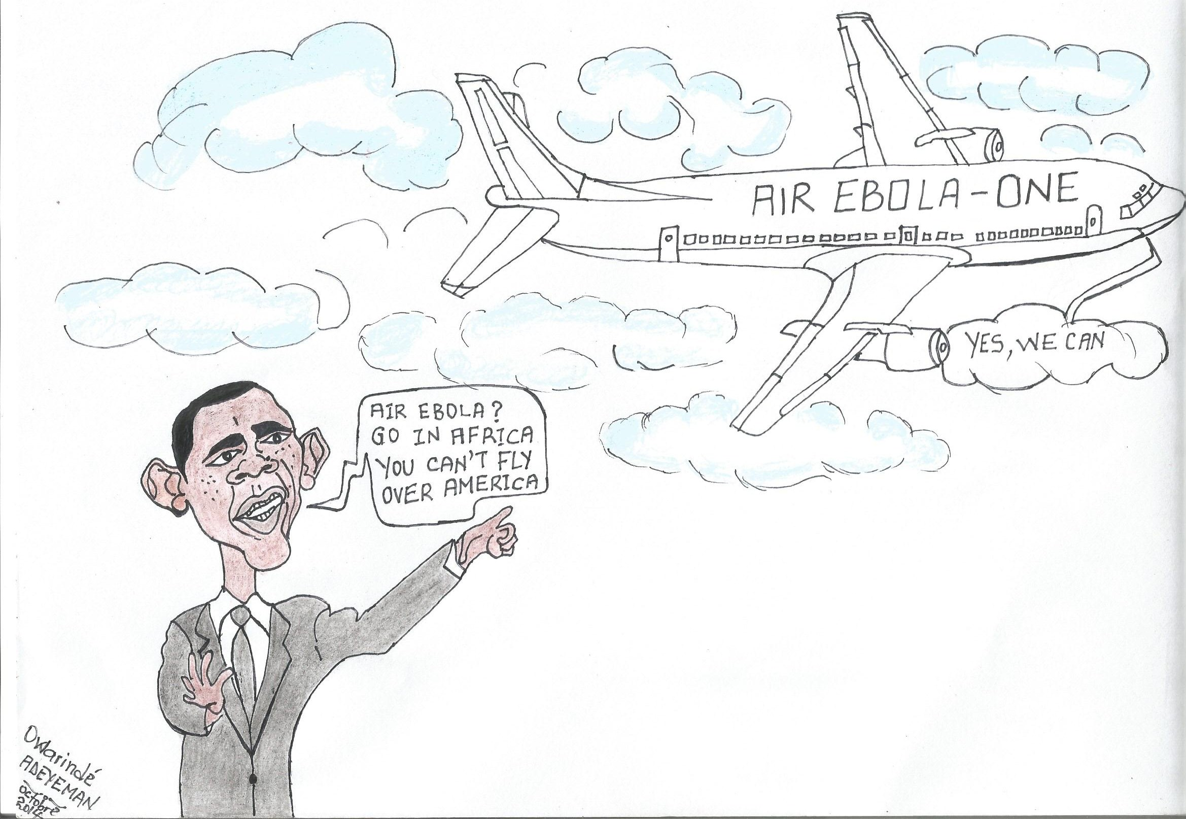 caricature de Owarindé ADEYEMAN